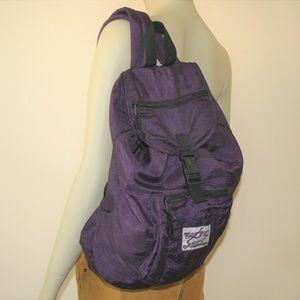 Vintage 1980/90s Purple Nylon Backpack